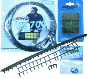 Speedminton racket upgrade set